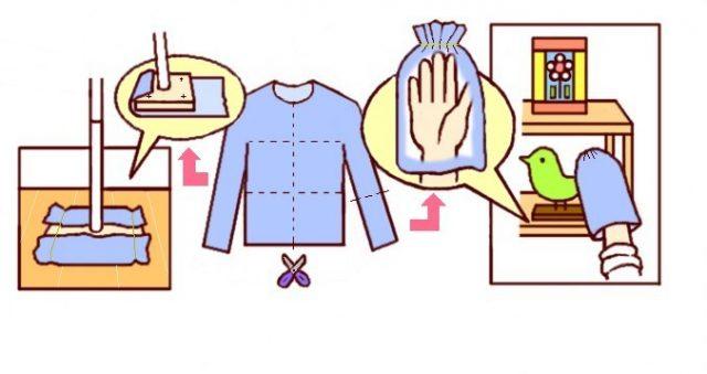 図1 衣類で掃除グッズ フリース