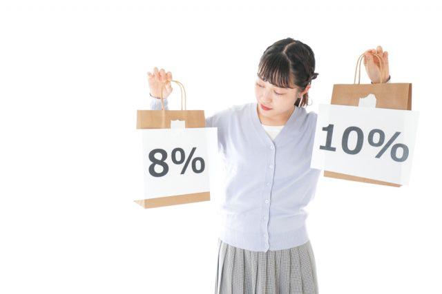 消費税率10%の飲食料品と8%の飲食料品の違いは何か説明できますか?